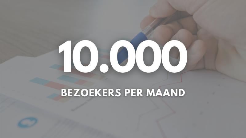 10.000 bezoekers per maand