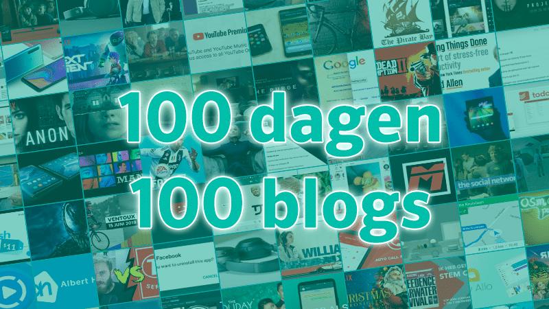 100 dagen op rij bloggen 🎉