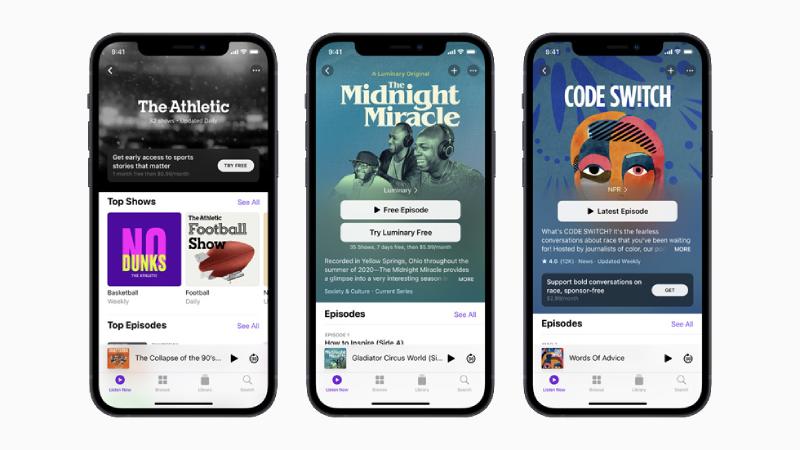 Betaalde abonnementen bij Apple Podcasts