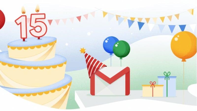 Gmail 15 jaar