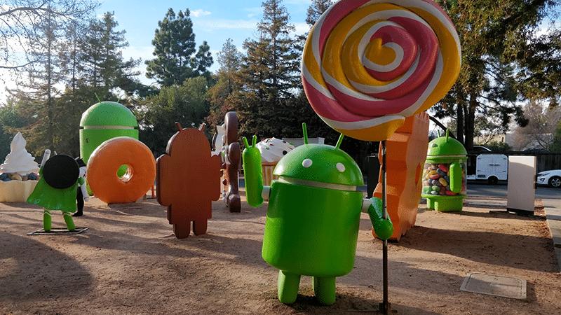 Android-beelden bij Google, Mountain View
