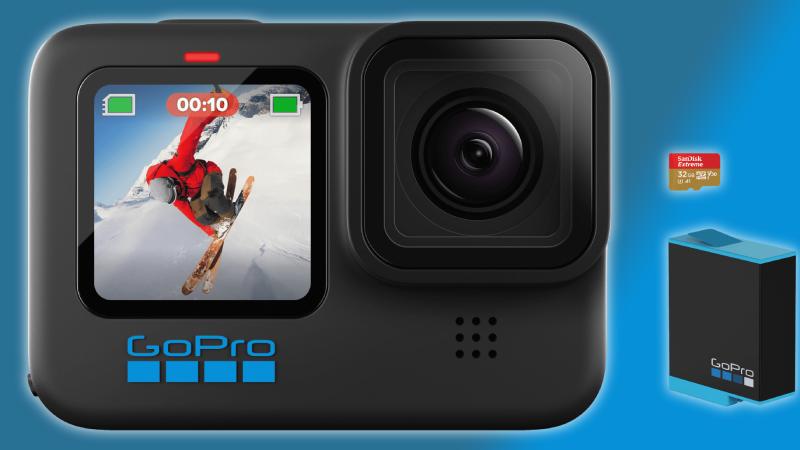GoPro Hero 10 met batterij en geheugenkaartje