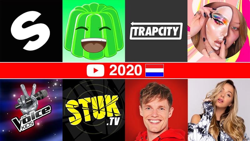 De grootste Nederlandse YouTube-kanalen in 2020