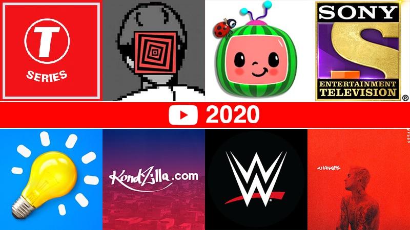 YouTubers met de meeste abonnees in 2020