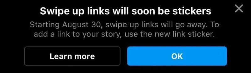 Instagram: swipe-up wordt vervangen door sticker