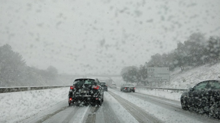 Roadtrip: sneeuw op de weg