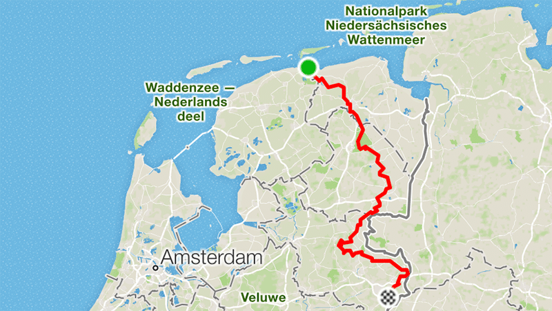 Saksentocht route