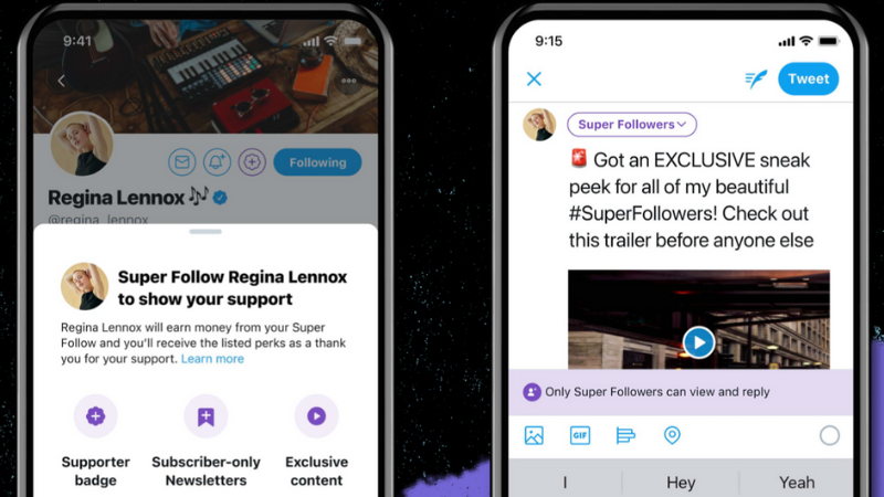 Twitter Super Follow: in de voetsporen van Twitch en YouTube
