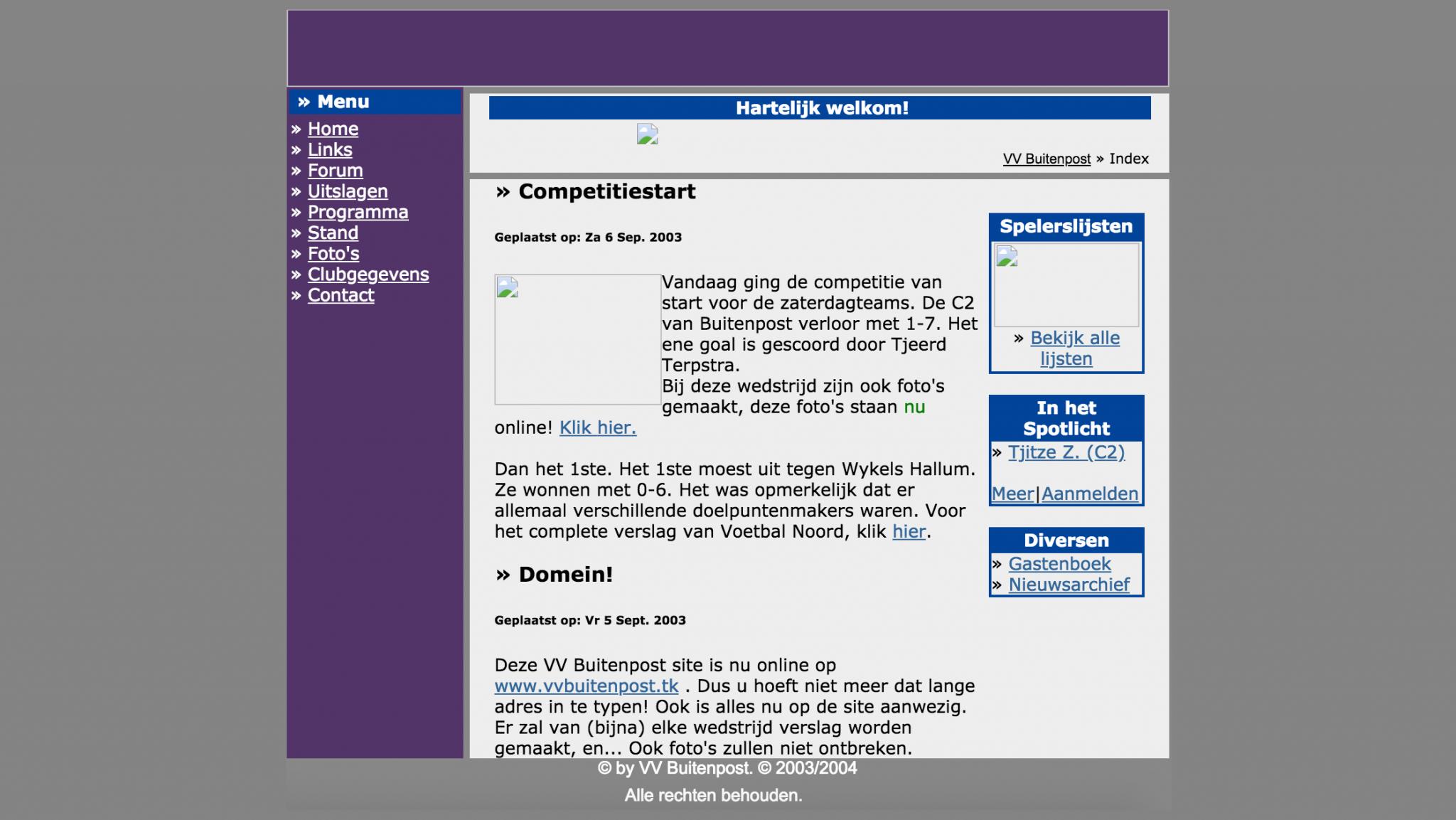 Vijftien jaar geleden registreerde ik mijn eerste domein