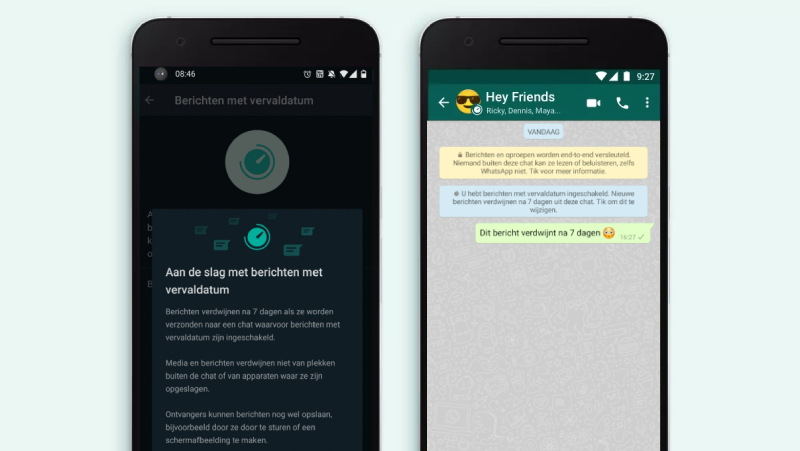 Hoe kun je in WhatsApp berichten automatisch verwijderen?